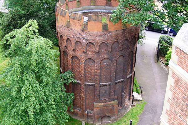 Aerial view of Tudor Tower