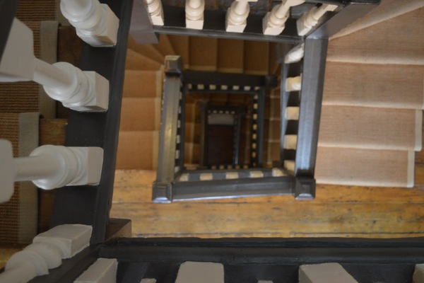 The stairs at Dr Johnson's House
