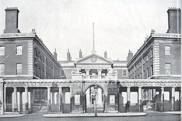 View of Robert Adam's screen from Whitehall