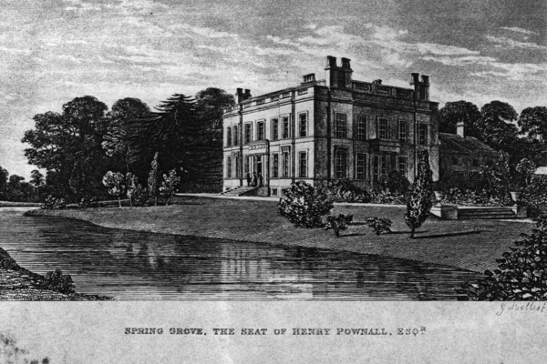 Spring Grove House after being rebuilt by Henry Pownall, 1840s