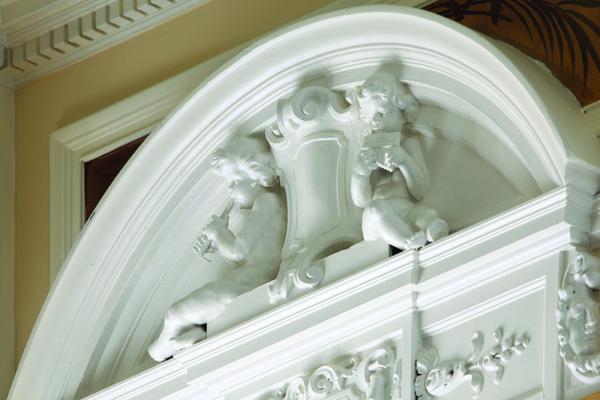 Spring Grove House: doorway detail