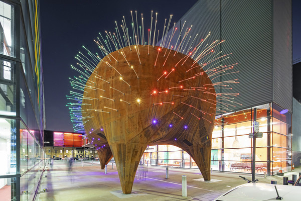 Neuron Pod at night
