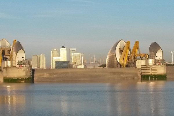 Thames Barrier gates closed
