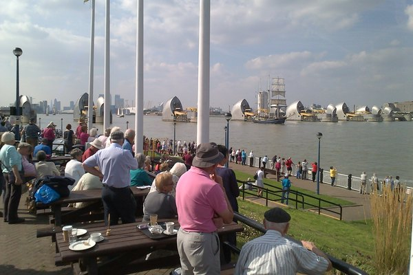 Thames Barrier - Tall ships event