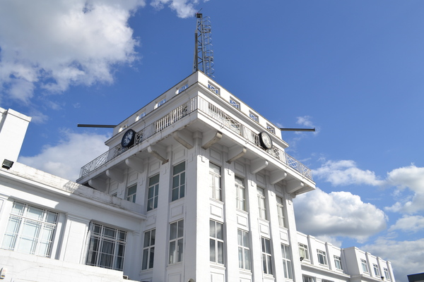 1928 Air Traffic Control Tower at rear of building