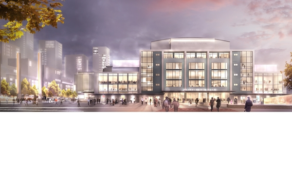 artist impression of Fairfield Halls