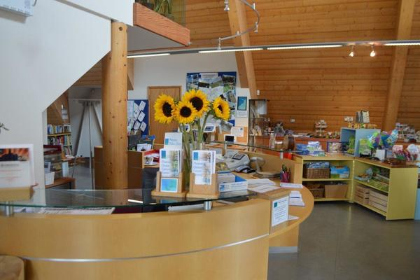 Reception in the Visitor Centre