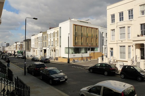 View westwards on Westbourne Park Road