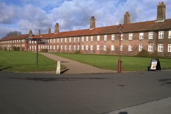 The Barrack Block from the palace