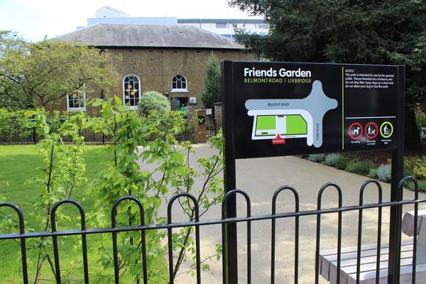 View of new Friends Garden park