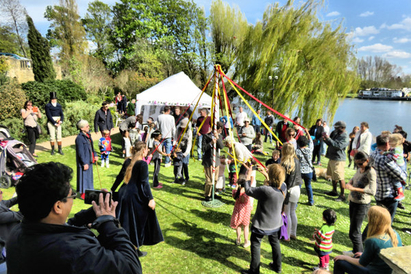 Dancing round the Maypole, 1st May 2016