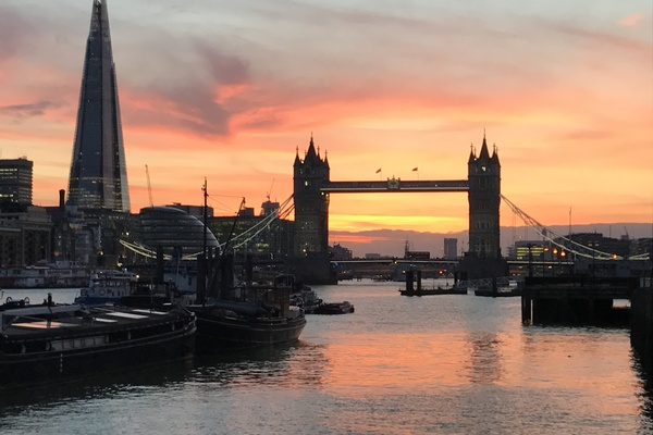 Sunset View from Hermitage Moorings