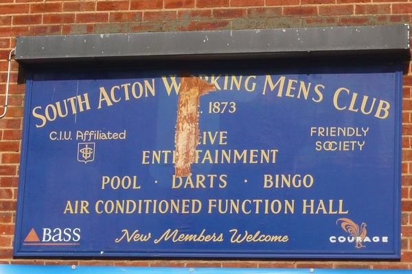 South Acton Working Mens Club - adjacent to South Acton Recreation Ground