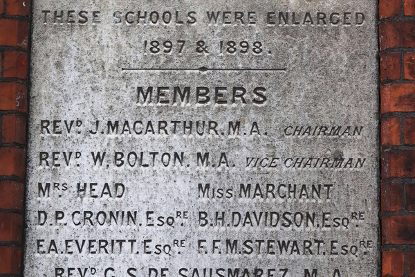 Memorial Plaque South Acton Early Childhood Education (1897)