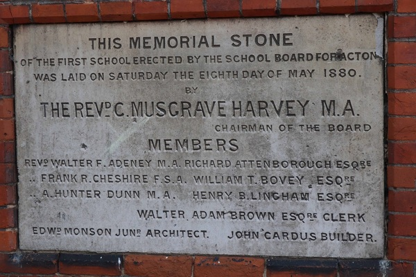 Memorial Stone South Acton Early Childhood Education (1880)