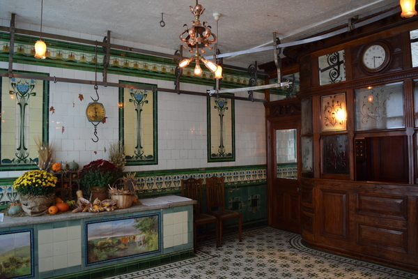 Tiles and booth
