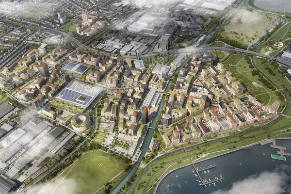 Birds eye view of proposed masterplan