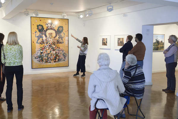 Viewing works at the Government Art Collection
