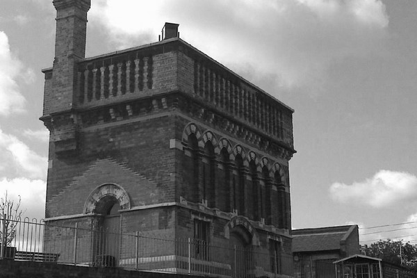 View of Waterpoint in black and white glory