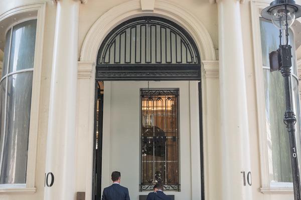 Entrance to 10-11 Carlton House Terrace