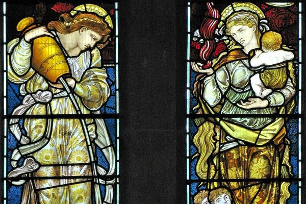 Temperance & Charity by Edward Burne Jones