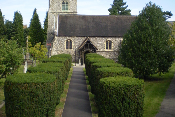 View from the Lych Gate