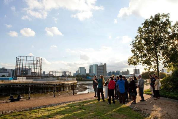 View across the Dock to the Gasometers