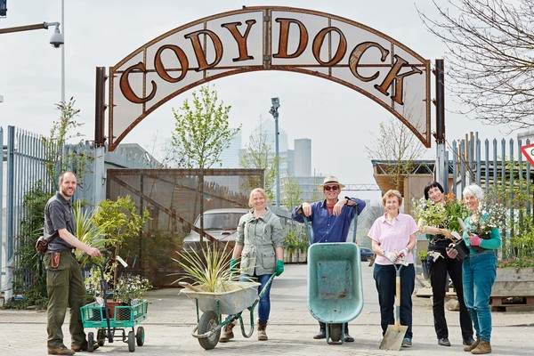 Entrance to Cody Dock