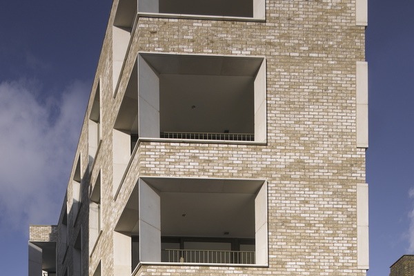 Detail views of balcony fins