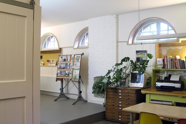 Architects' Studio, with exposed original cobbles and new rubber floor