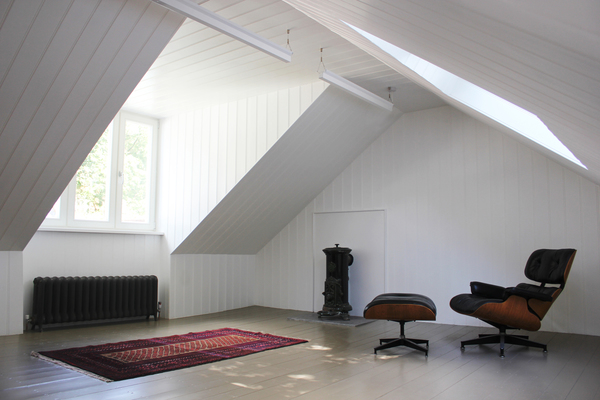 Upper Maisonette - Living area, with reclaimed heating