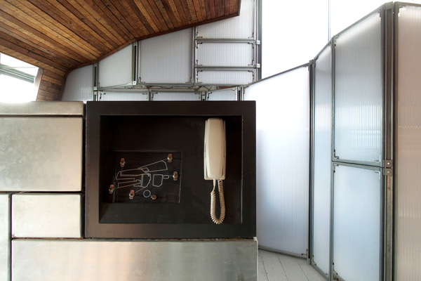 Upper space by kitchen
