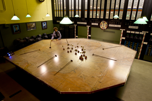 The Bunker's original wartime operations room