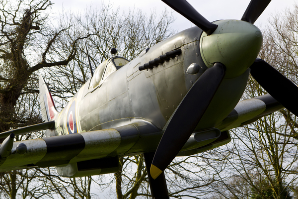 Replica Spitfire aircraft outside the Bunker.