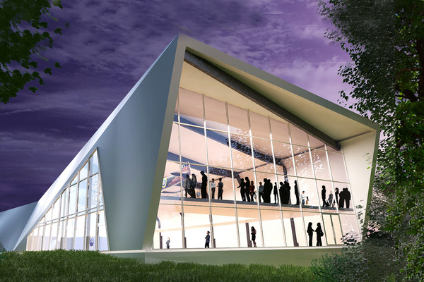 Artist's impression of the new Bunker visitor centre.
