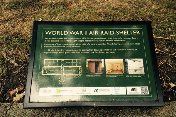 Interpretation Board for St Leonards Air Raid Shelter