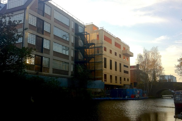 CLT structure, view from Regents Canal