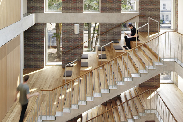 Staircase and multi-use learning space