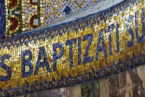 Baptistry detail