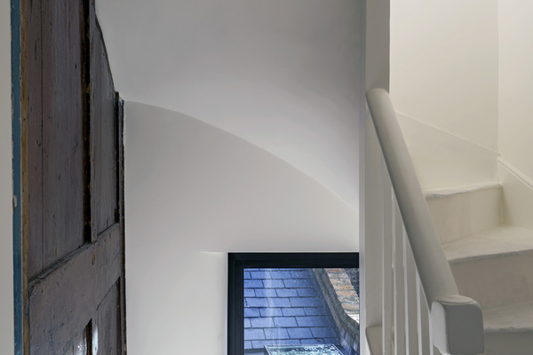 Existing stairs and panelling