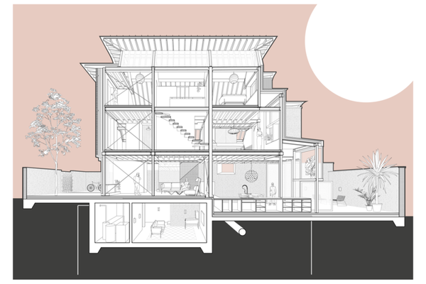 Makers House - Architects Perspective Drawing