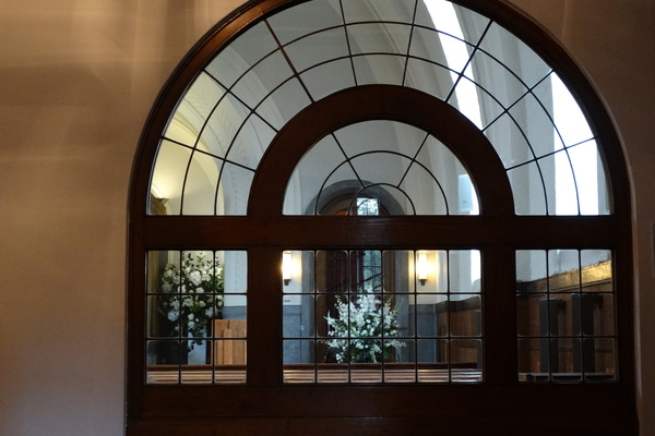 Lobby window to Chapel