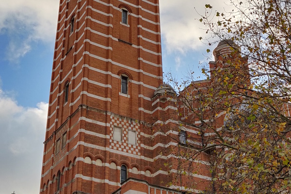 Westminster Cathedral from Ambrosden Avenue