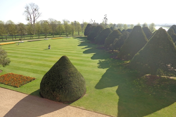 Hampton Court Palace, East Front Gardens - view from RSN Classrooms