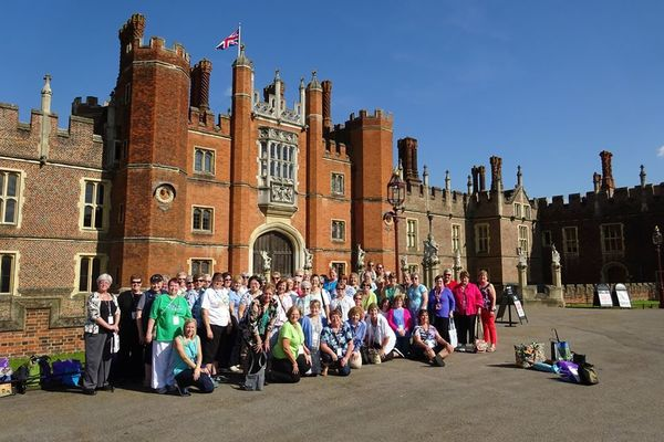 A North American Tour Group visits the RSN at Hampton Court Palace