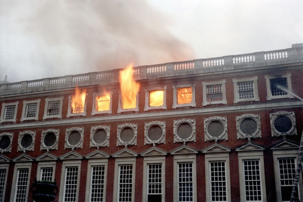 Hampton Court Palace Fire in 1986