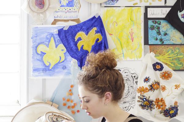 RSN Degree Student: BA (Hons) Hand Embroidery for Fashion, Interiors, Textile Art