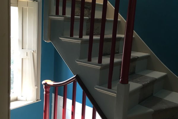 The first floor staircase landing.