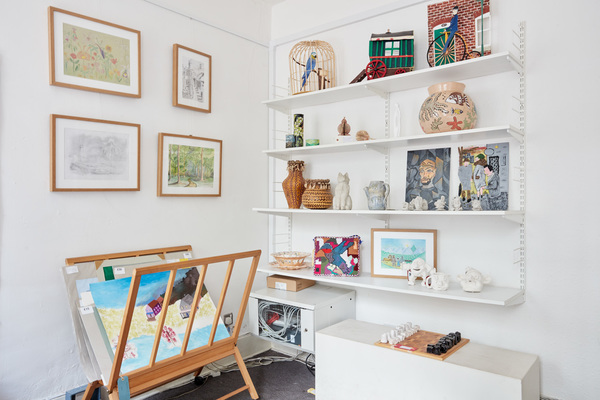 Inside the gallery at the Koestler Arts Centre