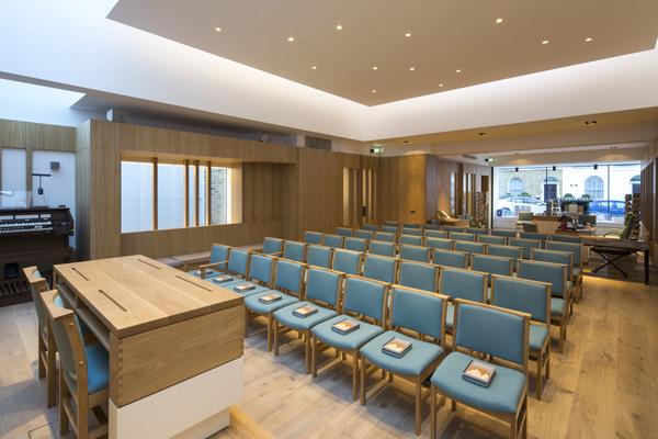 Auditorium screen open
